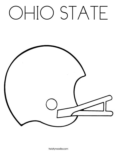 ohio state football helmet free coloring pages