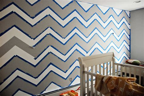 chevron template for walls the nursery chevron wall