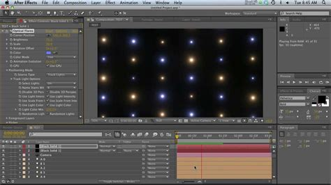 tutorial video wall after effects c4d ae tut integrating optical flares with cinema 4d