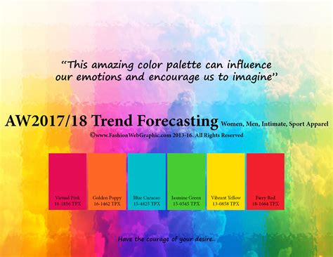 trending color palettes for 2017 autumn winter 2017 2018 trend forecasting for women men
