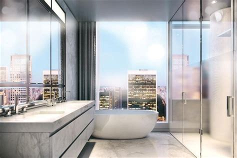 new york apartment bathrooms baccarat residences new york penthouse apartment for sale