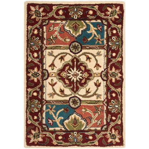 safavieh heritage accent rug in red multi hg926a 2 safavieh heritage multi red 2 ft x 3 ft area rug hg925a