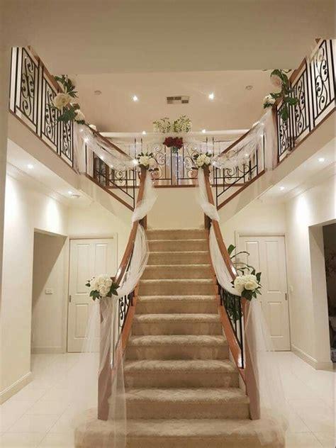 wedding preparation staircase decor stairs decor
