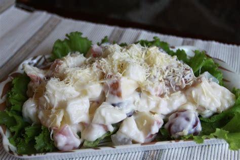 cara membuat salad buah keju mayones pin salad buah resep dan cara membuatnya cake on pinterest