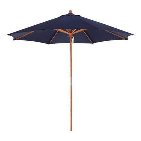 9ft Patio Umbrella Shop Navy Blue Market 9 Ft Patio Umbrella At Lowes
