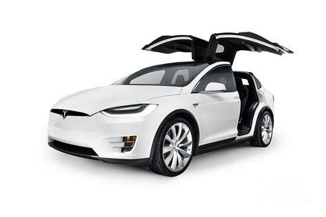 tesla model electric car white 2017 tesla model x luxury suv electric car with open