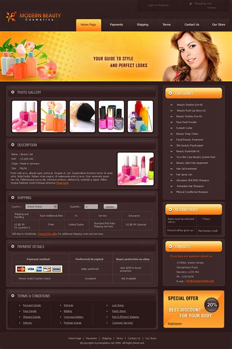 free ebay html template image gallery html auction templates