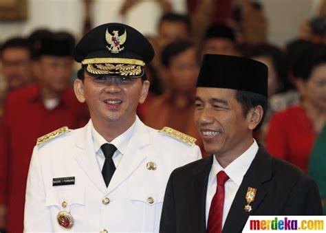profil jokowi gubernur dki foto keakraban jokowi dan ahok usai pelantikan gubernur
