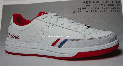 reebok g6 low sneakers g unit 50 cent white 2004