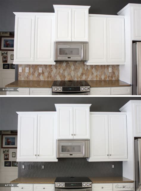 How To Paint Tile Backsplash In Kitchen How I Transformed My Kitchen With Paint House Mix