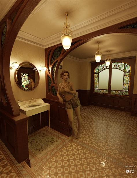 art nouveau bathroom art nouveau bathroom commercial daz 3d forums