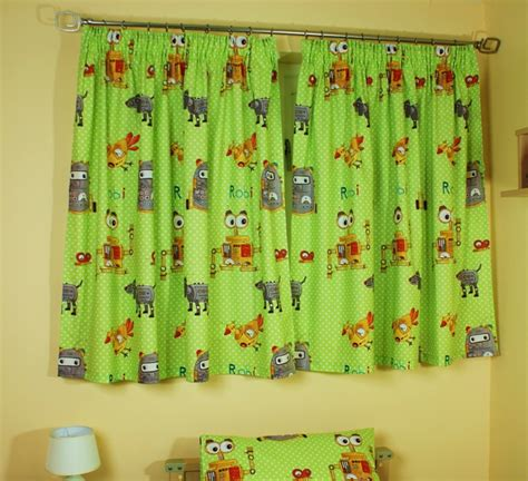 childrens drapes kids childrens robot bedding or bedroom curtains