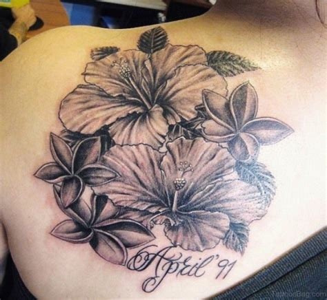 hawaiian flower tattoos large preview easy on the eye 51 classy hibiscus flower tattoos for shoulder