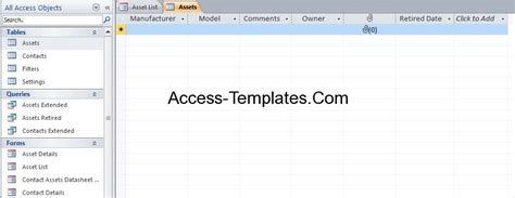 Asset Tracking And Management System Software For Ms Access Access Database And Templates Software Asset Management Database Template