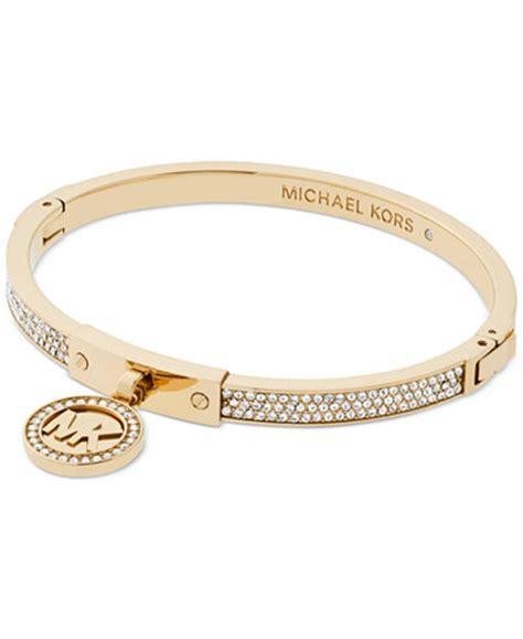 michael kors logo pav 233 hinged bangle bracelet jewelry