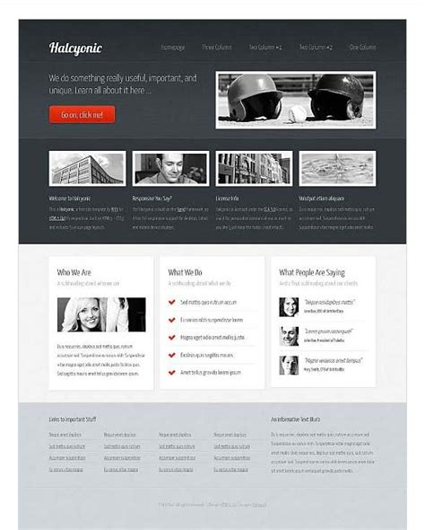 top free corporate dreamweaver templates css menumaker
