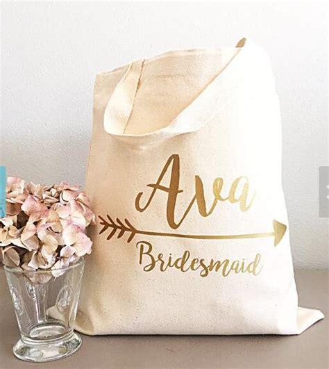 wedding shower gift bags set of 6 personalized name bridesmaid tote bags wedding gift bags bachelorette bridal shower