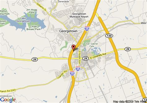 map georgetown texas map of comfort suites georgetown georgetown