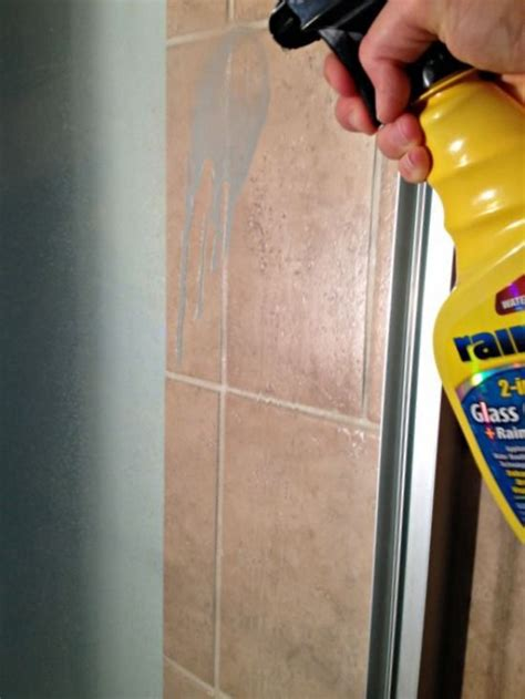 a surprising way to prevent soap scum build up on glass