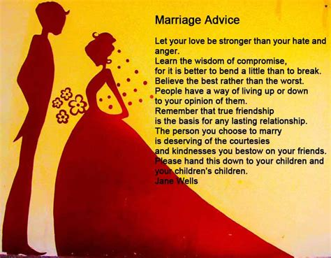 Wedding Advice Poem by Marriage Advice Poem Wedding Ideas