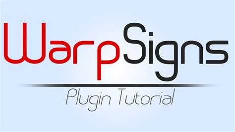 vector tutorial bukkit warpsigns bukkit plugin tutorial youtube