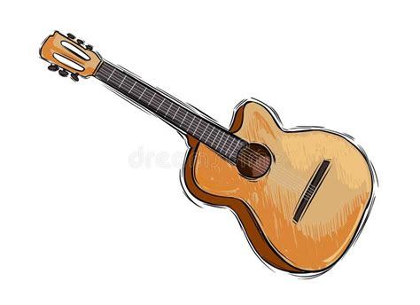 imagenes de guitarras faciles para dibujar dessin de guitare image stock image du temps retrait