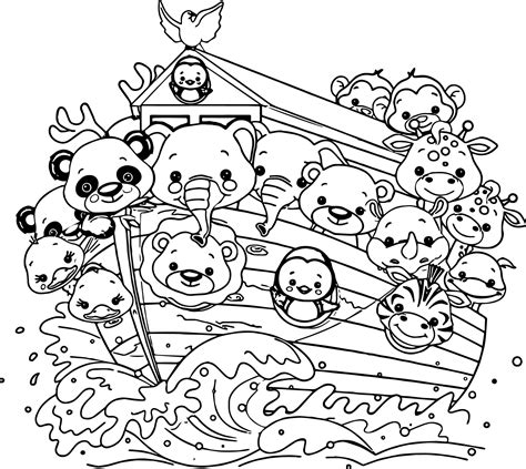 coloring pages for noah s ark nice noah s ark cartoon coloring pages wecoloringpage