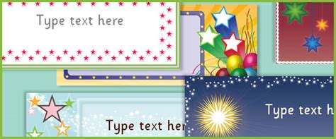 editable star labels  early years primary teaching