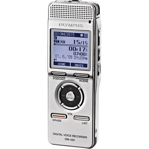 2gb digital voice recorder olympus dm 420 digital voice recorder 2gb 140146 b h photo