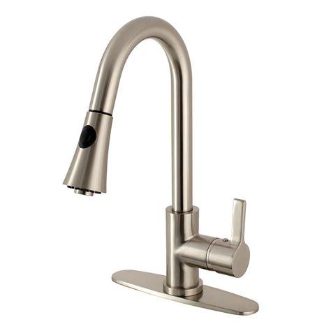 kingston brass modern single handle pull down sprayer kingston brass modern single handle pull down sprayer