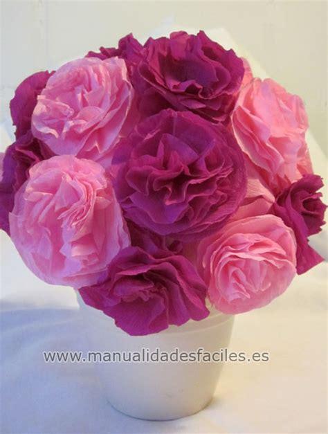 flores en papel seda paso a paso topiarios con flores todo bonito