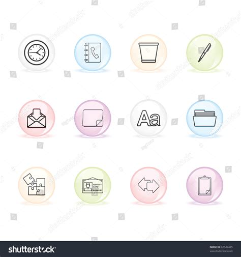 eps format edit office icon set 12 sphere series vector eps 8 format