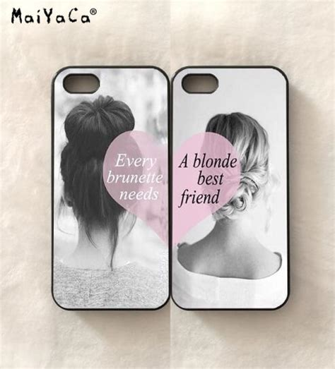 bff  girls  friends silicone soft edge mobile phone