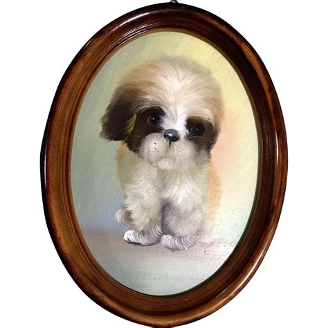 adorable shih tzu puppies home adorable shih tzu puppy painting on board from gumgumfuninthesun on ruby