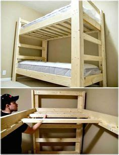 build  bunk bed diy wood projects adult bunk beds