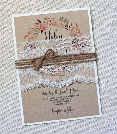 Country Chic Wedding Invitations the rustic invitations for your country wedding