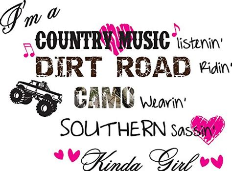 Home Decor Sayings I M A Country Music Listenin Country Vinyl Wall