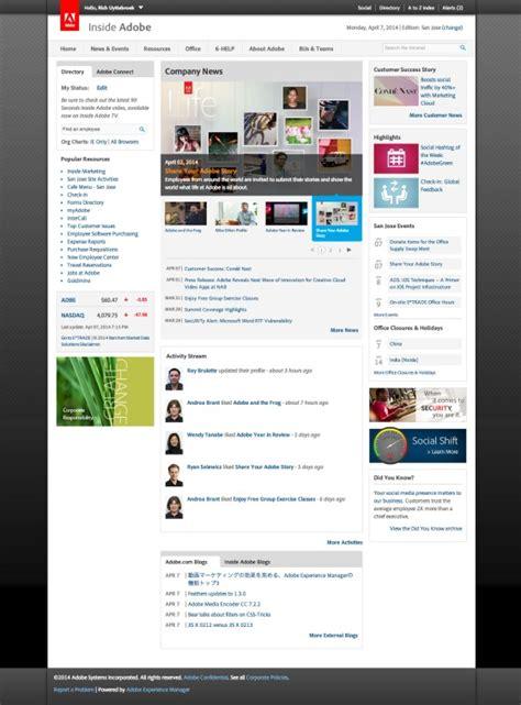inside adobe adobe intranet digital workplace group