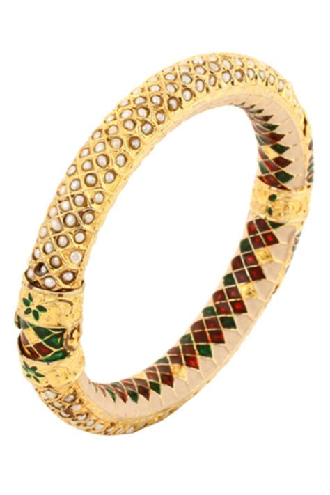Etnic Bracelet Gold buy collection pearl gold plated meena enamel ethnic antique clutch bracelet for