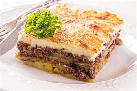 traditional greek moussaka recipe moussaka with b 233 chamel my greek dish