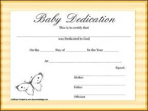 child certificate template baby dedication certificate template free certificate234
