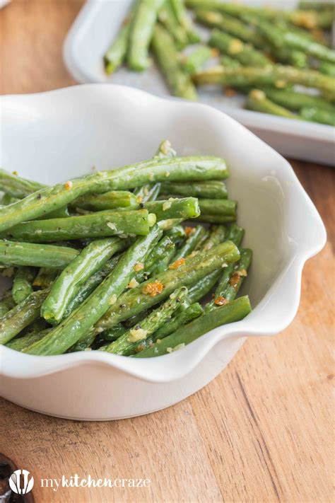 Fashioned Side Garlicky Green Beans by Baked Garlic Green Beans With A Recipe My Kitchen