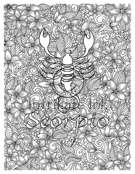 scorpio coloring page zodiac sign birtday month october
