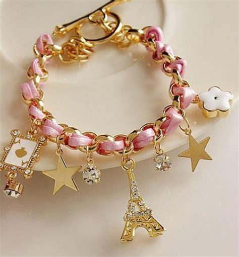 Sweet Baby Pink Eiffel Bead Bracelet sweet eiffel tower design bracelet