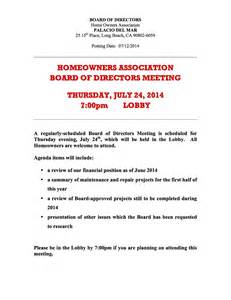 homeowners association templates hoa board meeting july 24th 7 00pm 25 15th place