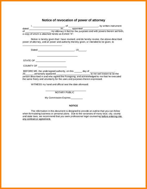 Offer Letter Revoke Format 6 Sle Letter Revoking Power Of Attorney Ledger Paper
