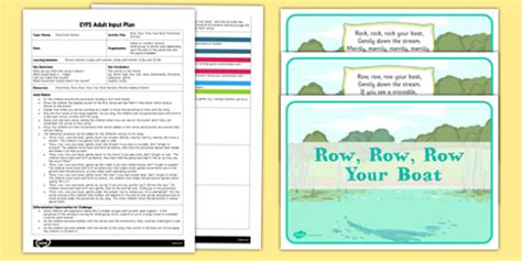 boat pictures twinkl row row row your boat parachute activity eyfs adult