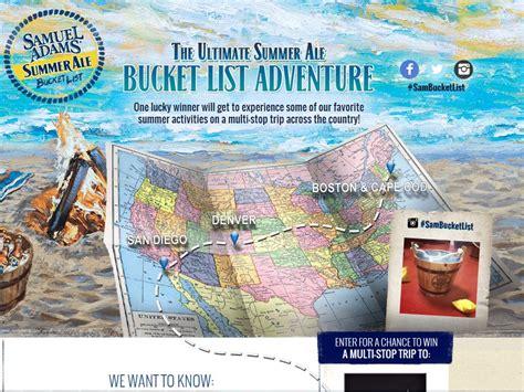 Sweepstakes 2014 List - samuel adams ultimate summer ale bucket list adventure sweepstakes sweepstakes fanatics