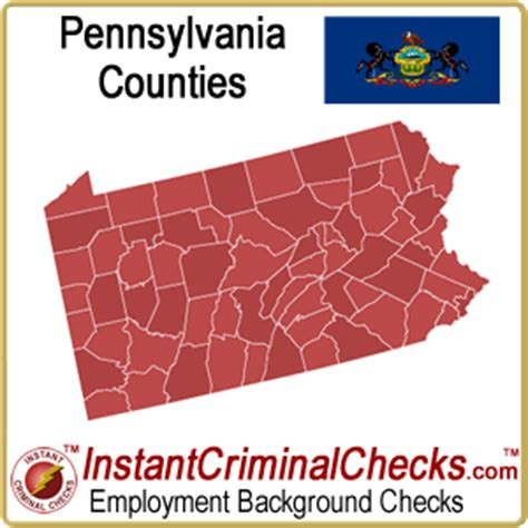Pa Criminal Record Check Pennsylvania County Criminal Background Checks Pa