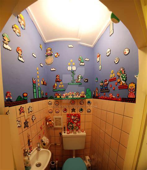 mario bros bathroom super mario perler beads bathroom by delwynn on deviantart